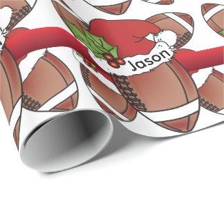 Nome do futebol | DIY do Natal do chapéu do papai Papel De Presente
