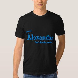 Nome do nascimento de Alexander Tshirt