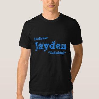 Nome do nascimento de Jayden Camisetas
