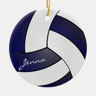 Nome do voleibol | DIY dos azuis marinhos e do Ornamento De Cerâmica