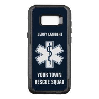 Nome e pelotão do paramédico de EMT EMS Capa OtterBox Commuter Para Samsung Galaxy S8+
