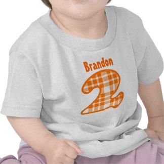 Nome feito sob encomenda bienal V007G da XADREZ do T-shirt