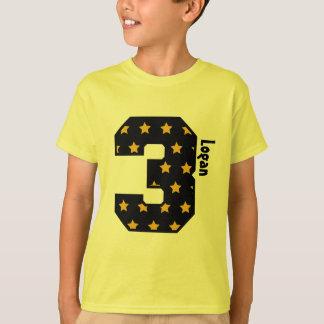 Nome feito sob encomenda de três anos V01D do Camiseta