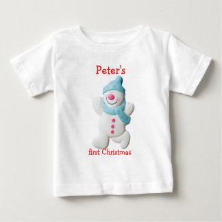 Nome feito sob encomenda dos meninos Natal feliz T-shirt