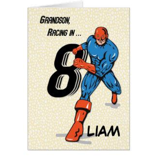 Nome feito sob encomenda, super-herói do cartão comemorativo