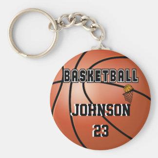 Nome & número do esporte   DIY do basquetebol Chaveiro