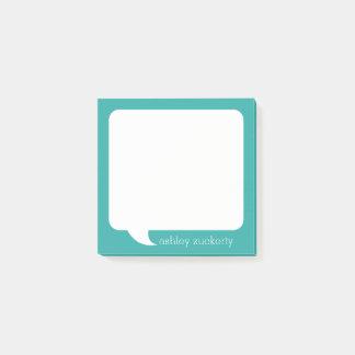 Nome personalizado bolha da conversa - PODE a COR Bloquinho De Notas