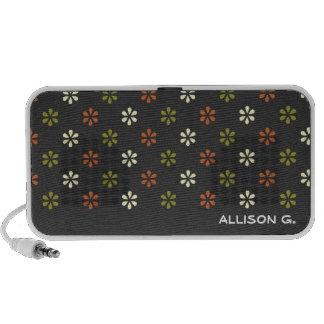 Nome personalizado da flor teste padrão floral min caixinha de som para mp3