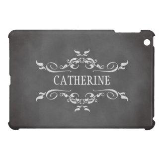 Nome personalizado do vintage quadro romântico capa iPad mini