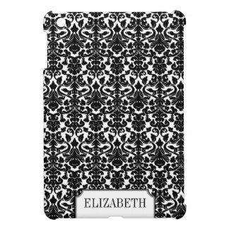Nome personalizado elegante da cor damasco preta capas iPad mini
