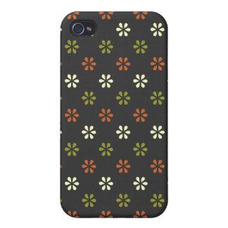 Nome personalizado pern floral da flor minúscula r capa iPhone 4