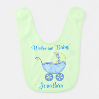 Nome verde do bebê da boa vinda do carrinho de babador infantil