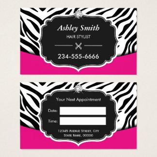Nomeação cor-de-rosa Sassy do cabeleireiro do Cartão De Visitas