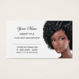 Nomeação da beleza cartão de visitas