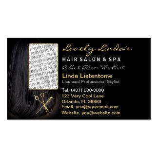 Nomeação da foto do estilista do cabeleireiro cartão de visita