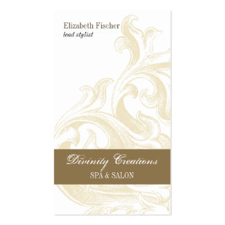 Nomeação divina do salão de beleza do Sconce Cartão De Visita