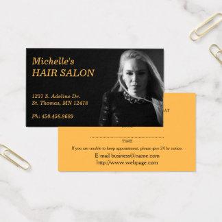 Nomeação do cabeleireiro cartão de visitas