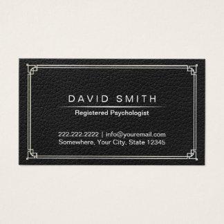 Nomeação do couro do preto do conselheiro do cartão de visitas