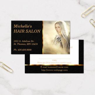 Nomeação elegante do cabeleireiro cartão de visitas