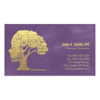 Nomeação pessoal do conselheiro do psicólogo roxo cartão de visita