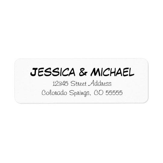 Nomes simples - etiquetas de endereço do remetente etiqueta endereço de retorno