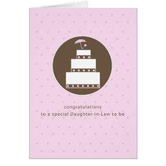 Nora, felicitações do bolo do chá de panela cartão comemorativo