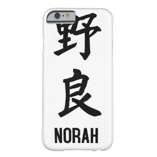 """NORAH"" no Kanji Capa Barely There Para iPhone 6"