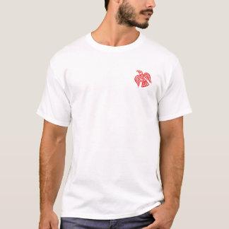 Norsemen - camisa vermelha e branca do corvo de