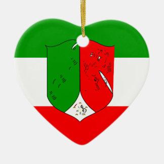 Norte-Bandeira Ornamento De Cerâmica
