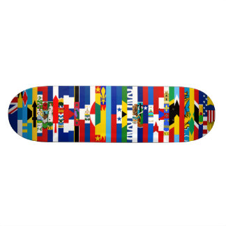 North-american embandeira o skate