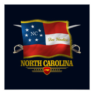 North Carolina - Deo Vindice Póster