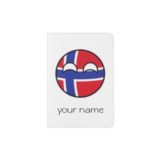 Noruega Geeky de tensão engraçada Countryball Capa Para Passaporte