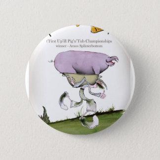 nós amamos a raça do porco do up'ill de yorkshire bóton redondo 5.08cm