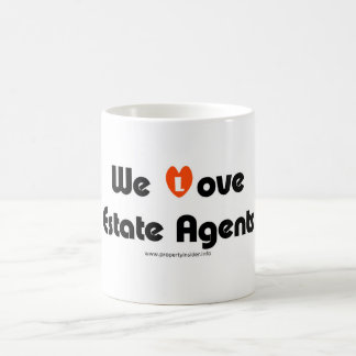 Nós amamos agentes imobiliários caneca de café