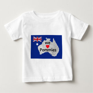 Nós amamos da criança australiana da bandeira dos tshirts