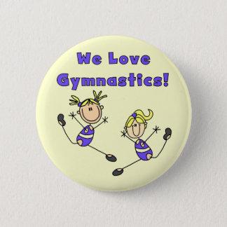 Nós amamos o camiseta e os presentes da ginástica bóton redondo 5.08cm