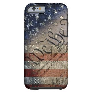 Nós as pessoas de bandeira americana do vintage capa tough para iPhone 6