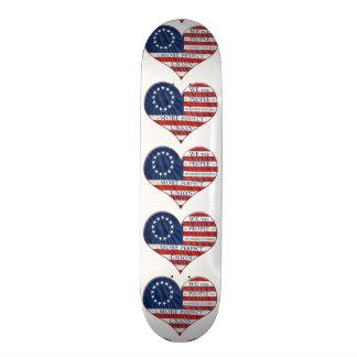 Nós as pessoas do coração da bandeira americana shape de skate 20,6cm