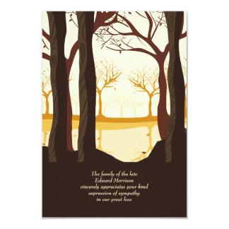 Nos cartões de agradecimentos do falecimento das convite 8.89 x 12.7cm
