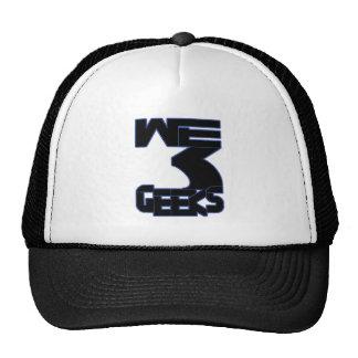Nós chapéu do logotipo de 3 geeks boné