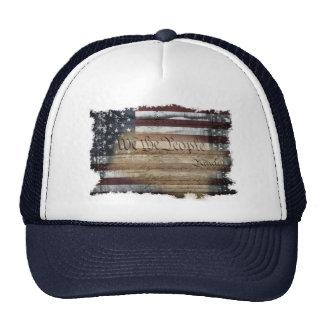 Nós do vintage da bandeira americana as pessoas do boné