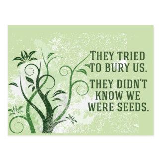 Nós éramos sementes cartão postal