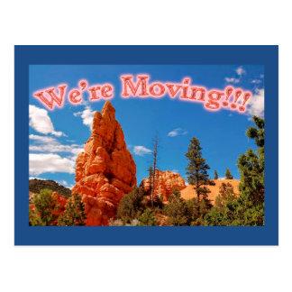 Nós estamos movendo-nos - cartão cartão postal