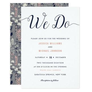 Nós fazemos convites florais do casamento