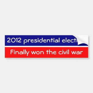 Nós ganhamos finalmente a guerra civil adesivo para carro