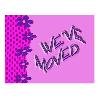 Nós movemo-nos cartão postal