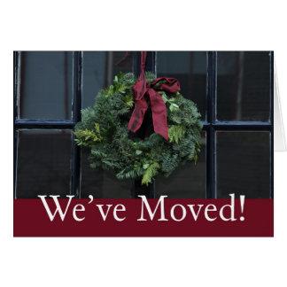 Nós movemo-nos - endereço novo da grinalda do cartão comemorativo