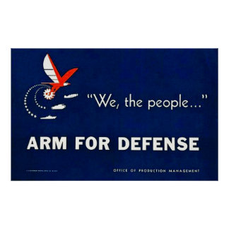 Nós, pessoas… do braço para a defesa - vintage poster