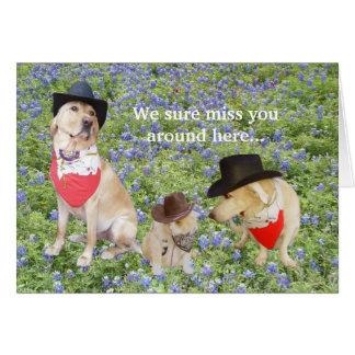 Nós senhorita Você Cartão Comemorativo