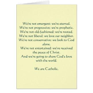 Nós somos católicos: notecard cartões